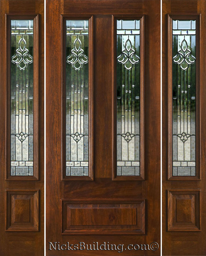 Entry Front Sidelight With Exterior Doors : Exterior doors with sidelights solid mahogany entry