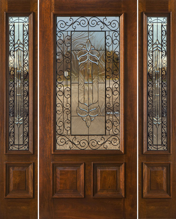 N 200 iron classic with sidelight for Entry doors with sidelights