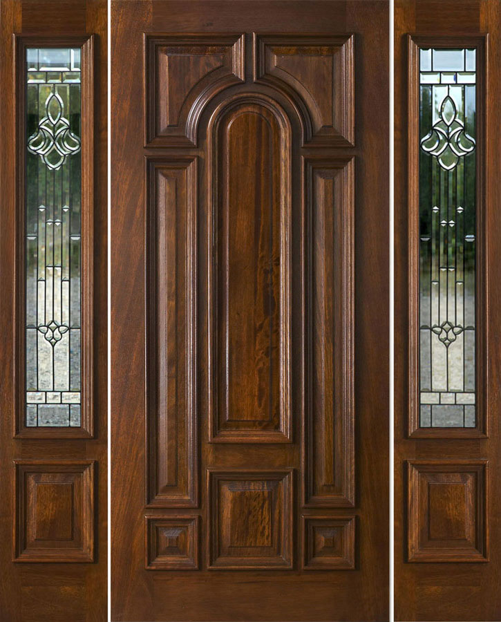 Chateau glass patina came for Mahogany doors