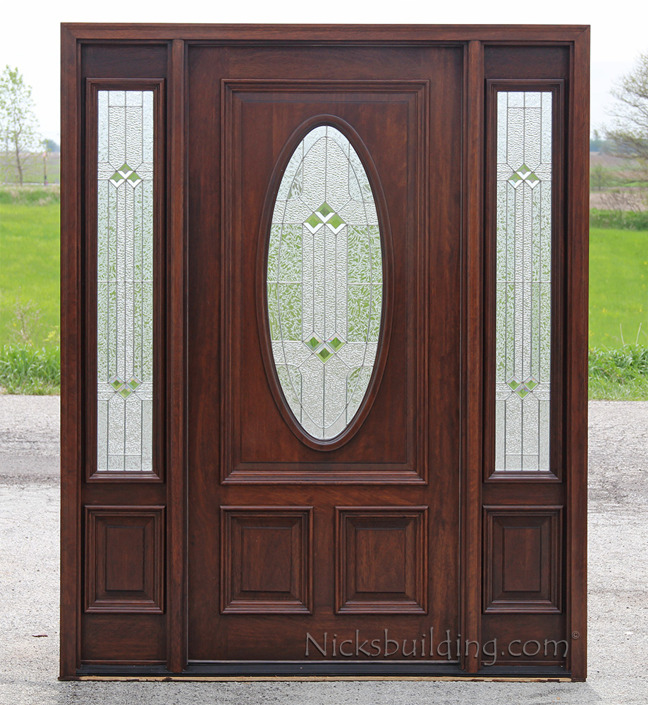Front Entry Doors With Side Lights : Exterior doors with sidelights solid mahogany entry