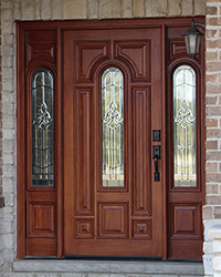 & Exterior Doors with Sidelights - Solid Mahogany Entry Doors