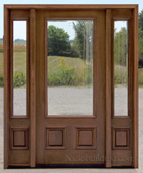 N200 Clear Beveled Glass With N75 Sidelights
