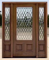 wood front doorsExterior Doors with Sidelights  Solid Mahogany Entry Doors