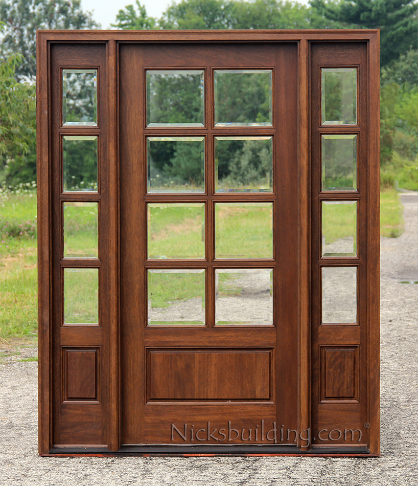 Exterior doors with sidelights solid mahogany entry doors for 2 pane window