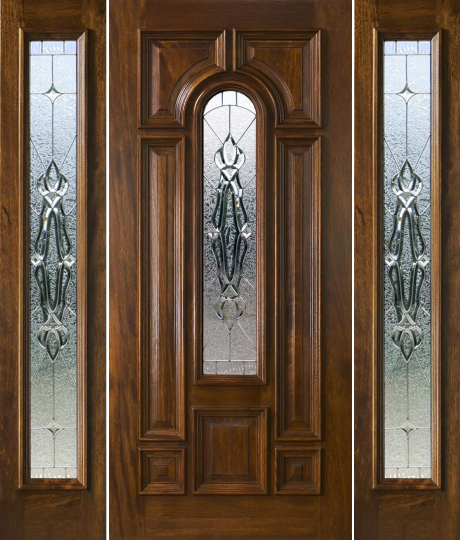 Exterior doors with sidelights solid mahogany entry doors for Solid entrance doors