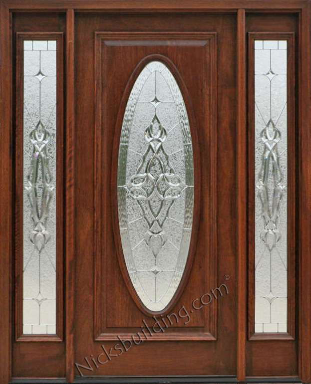 Exterior doors with sidelights solid mahogany entry doors for Exterior door with round window