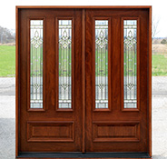 Solid Mahogany Double Doors