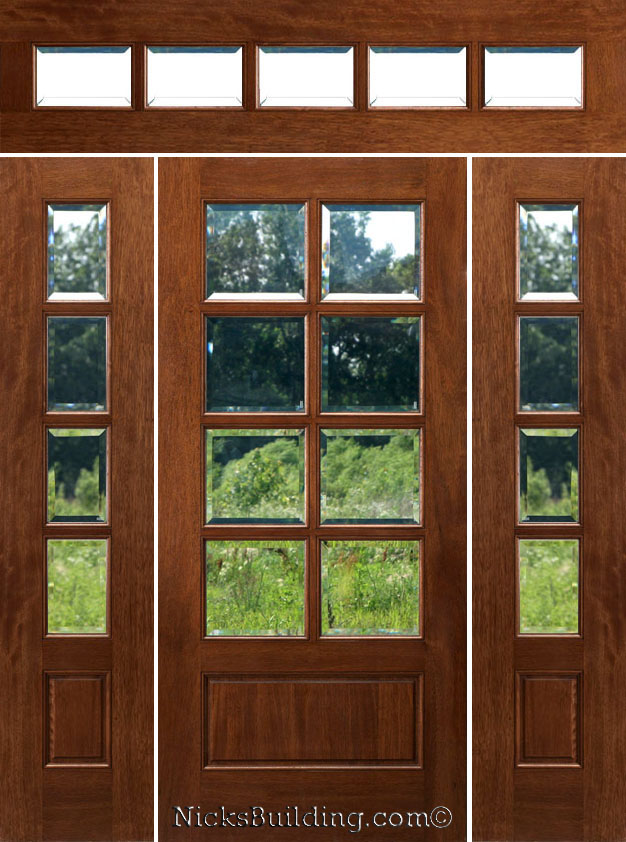 Rough opening est 69 1 2 x 98 Exterior doors with sidelights and transoms