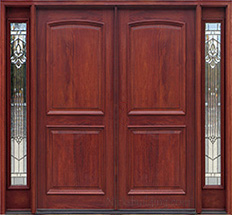 Exterior Double Doors with Sidelights