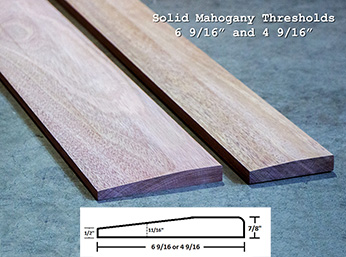 Mahogany Wood Threshold
