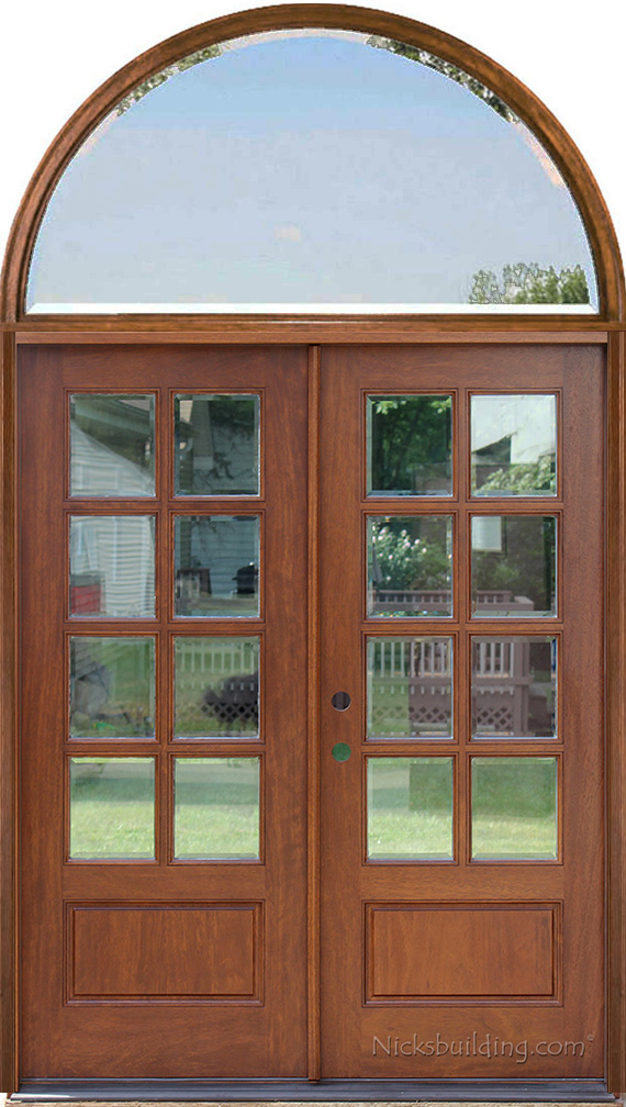 Double Doors With Arched Transoms Half Round Transom