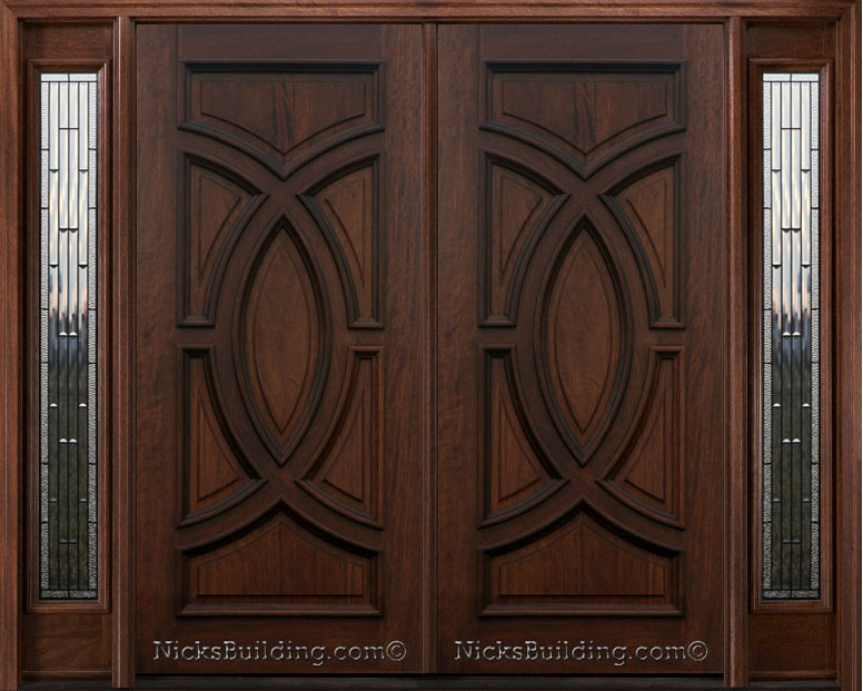 exterior double doors with sidelights solid wood doors 8 0 quot