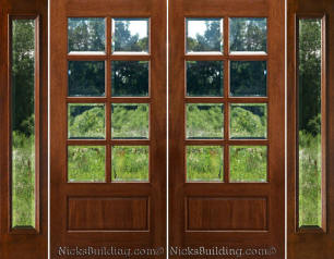 Double Front Door With Sidelights exterior double doors with sidelights - solid mahogany doors