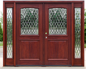 Exterior Double Doors With Sidelights Solid Mahogany