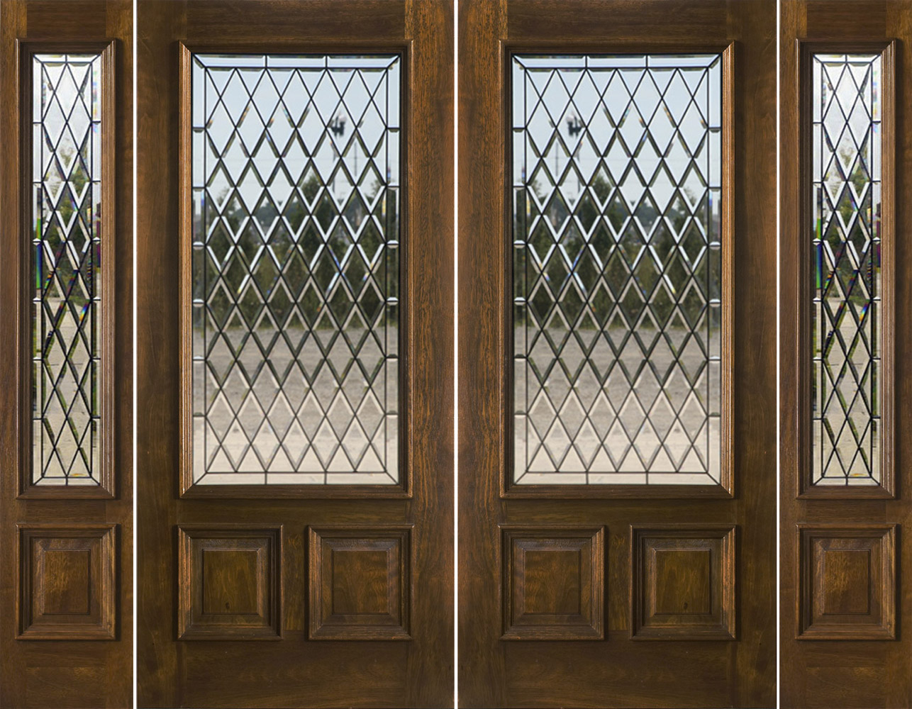 1000 #63462A Exterior Double Doors With Sidelights Solid Mahogany Doors wallpaper Glass Entry Doors With Sidelights 42951286