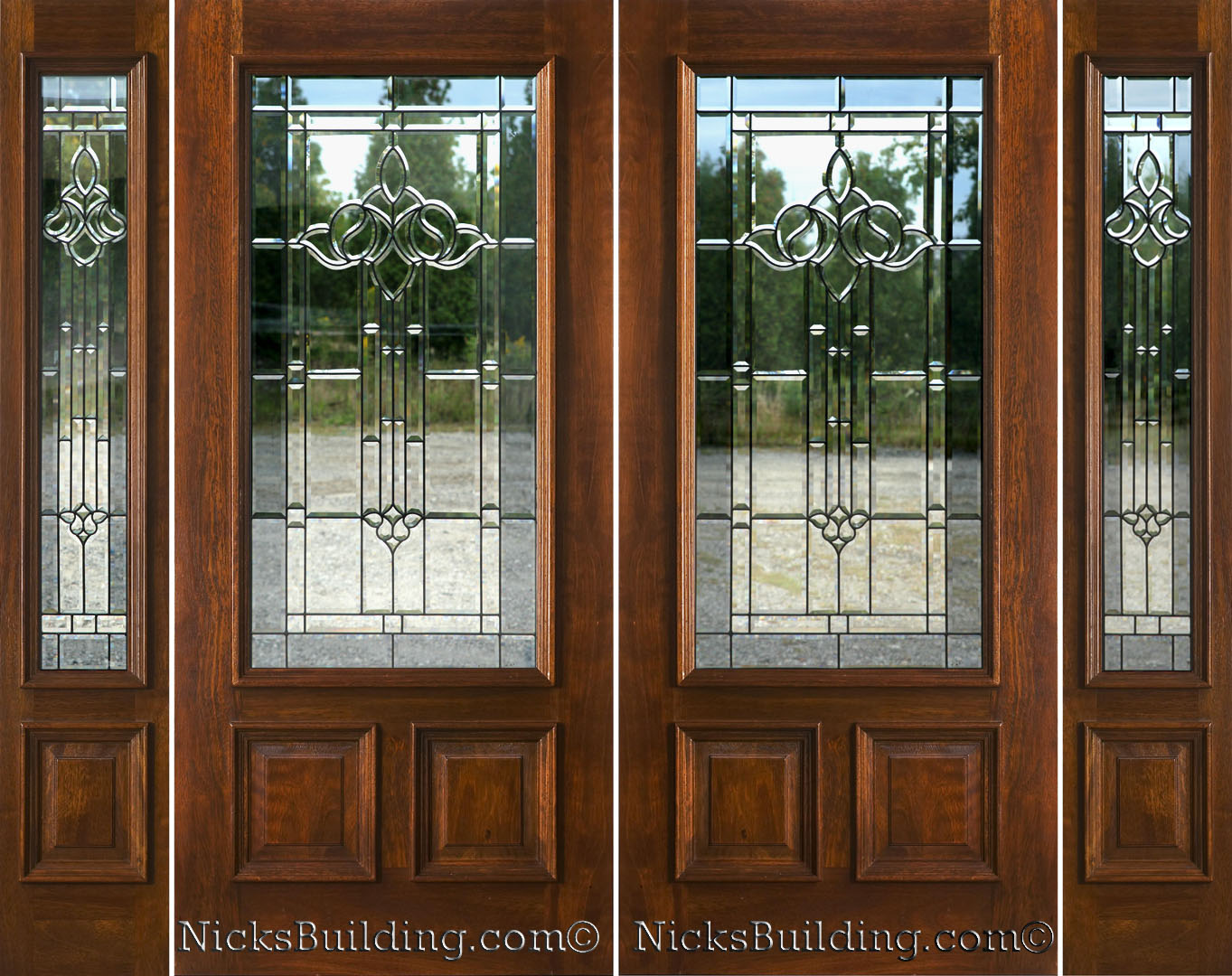 Front Doors With Side Lights: Exterior Double Doors With Sidelights
