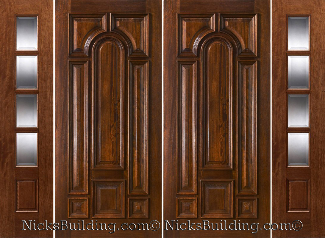 800 #442614 Exterior Double Doors With Sidelights Solid Mahogany Doors picture/photo Entry Doors With Sidelights 41991092