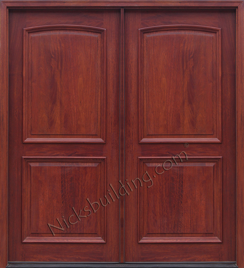 Exterior double doors solid mahogany wood double doors for Mahogany entry doors