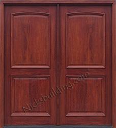 Exterior double doors solid mahogany wood double doors for Small double front doors