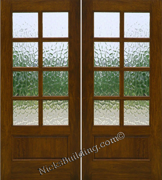 6 8 Lite Patio Doors And French Interior Or Exterior Uses Solid Mahogany Wood 1 3 4 Thick