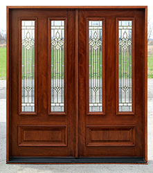 n101 doors with majestic glass patina caming