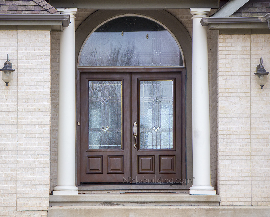 Exterior double doors solid mahogany wood double doors for Double front entry doors