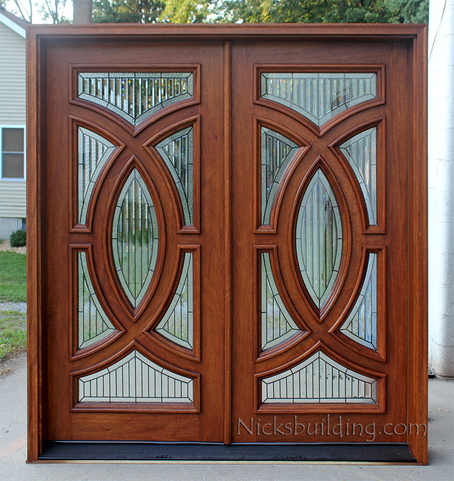 Carpenter doors bazaar carpenter works wooden doors for Double wood doors with glass