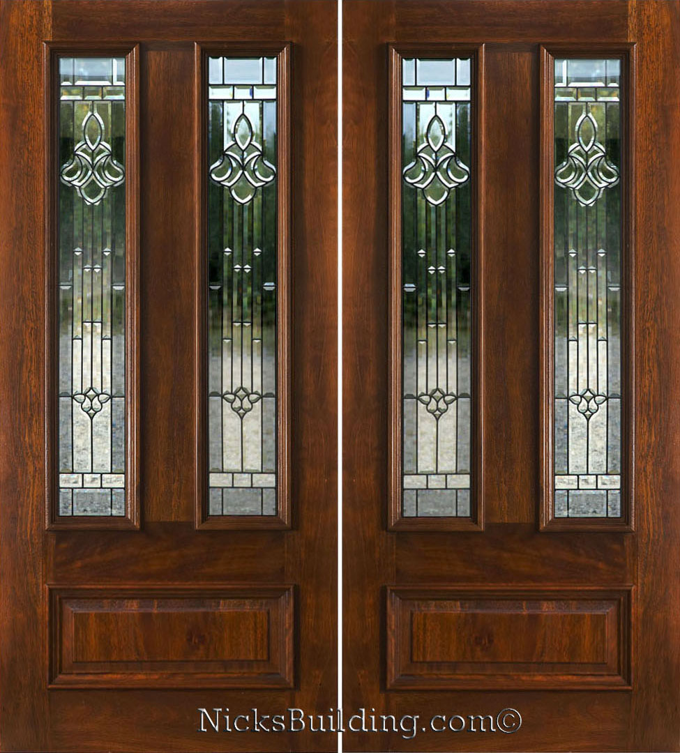 Double doors double front entry doors glass for Exterior double entry doors