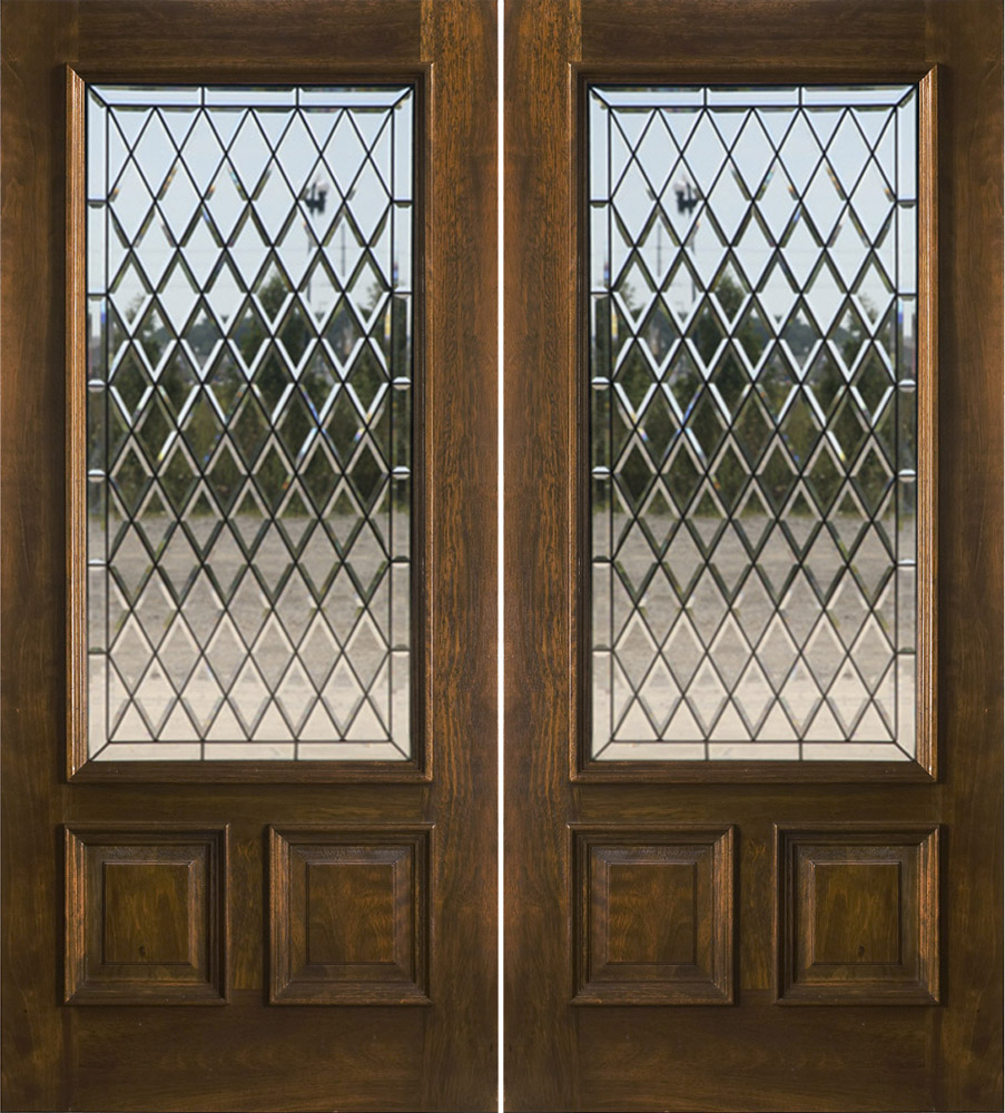 N 200 chateau glass for Exterior double doors