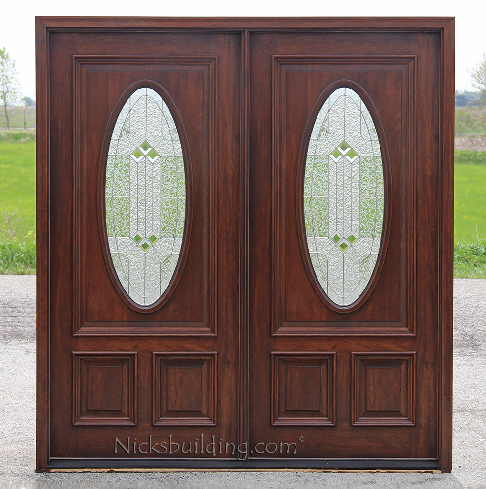Exterior double doors solid mahogany wood double doors for Mahogany exterior door