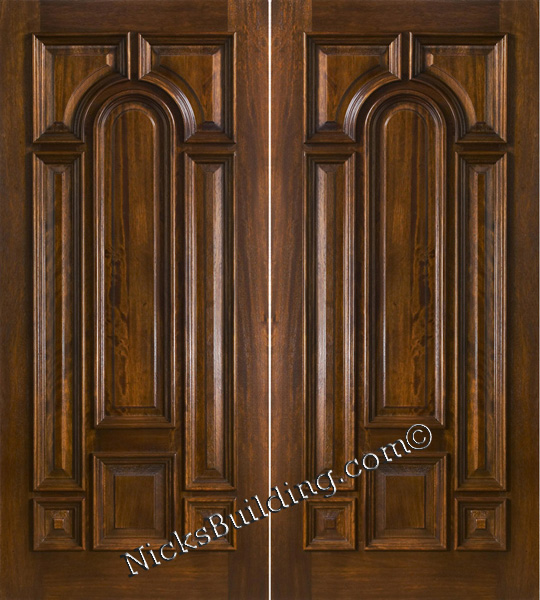 Exterior Double Doors Solid Mahogany Wood Double Doors