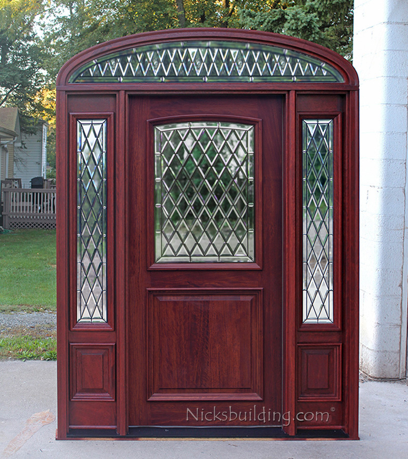 NEW Chateaux Glass 2 panel mahogany door with elliptical transom Chateau glass : door transom panel - pezcame.com