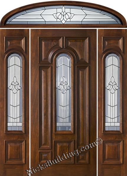 Mahogany Doors With Elliptical Transoms 6 39 8