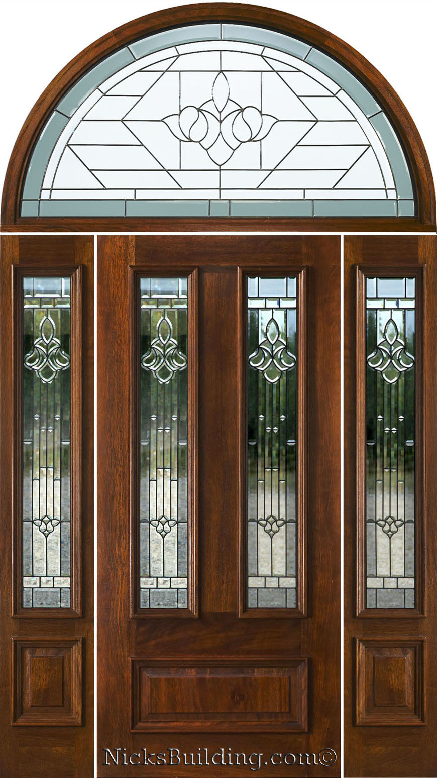 Exterior doors with half round transoms arched transoms for Entry door with transom