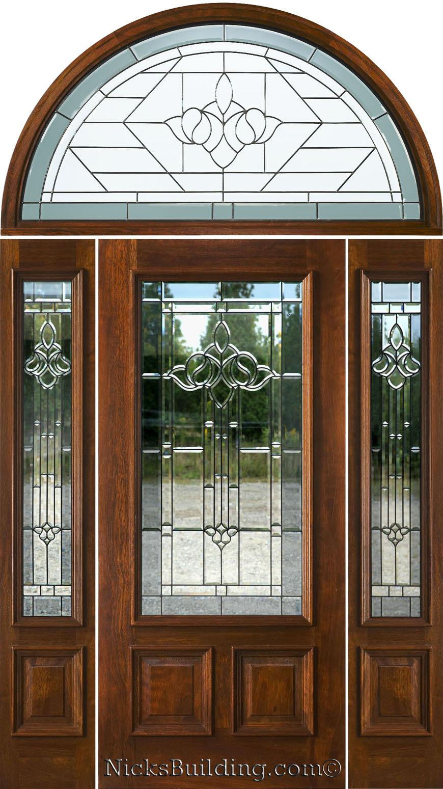 Exterior doors with half round transoms arched transoms for Half round buildings