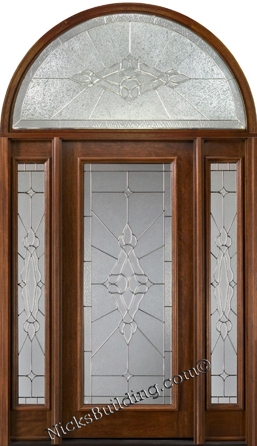Exterior doors with half round transoms arched transoms for Half round transom