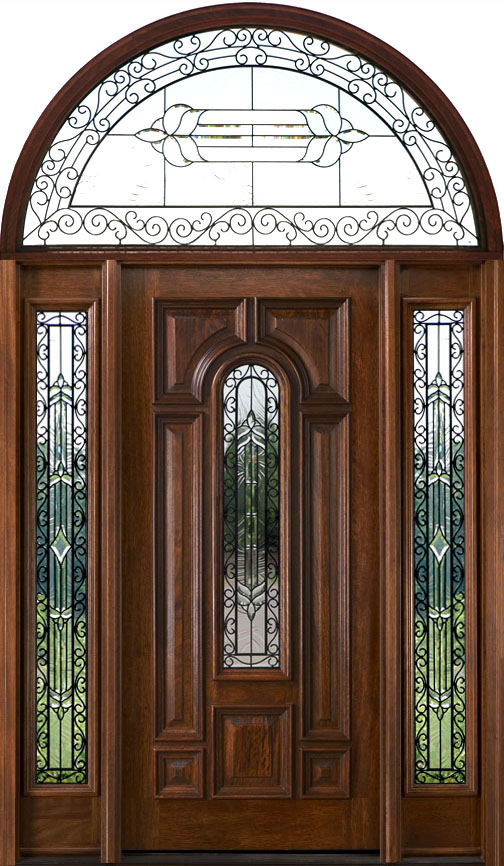 Exterior Doors with Half Round Transoms - Arched Transoms