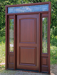 ... 2 panel solid wood door with iron classic glass & Mahogany Exterior Doors with Sidelights and Transoms 68 pezcame.com