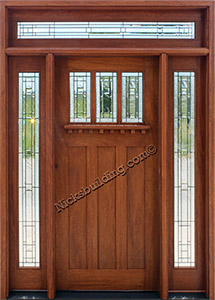 ... craftsman Mahogany Door & Mahogany Exterior Doors with Sidelights and Transoms 68