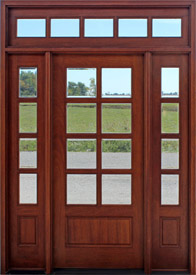 8 lite exterior door sidelights and transom & Mahogany Exterior Doors with Sidelights and Transoms 68 pezcame.com