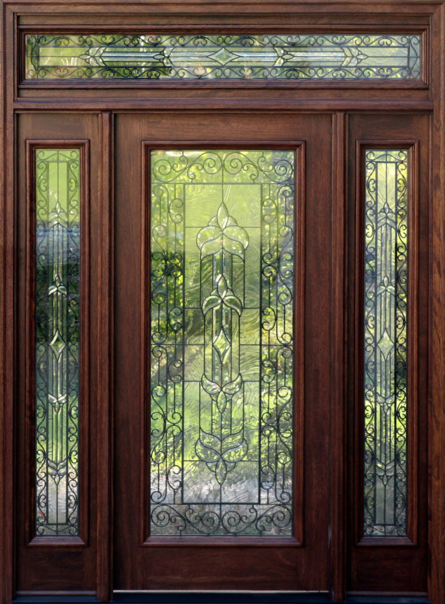 Home entrance door large front door for Outside doors with glass