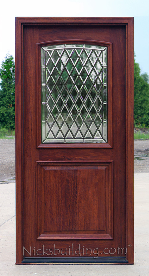 2 Panel Entry Door With Chateau Glass