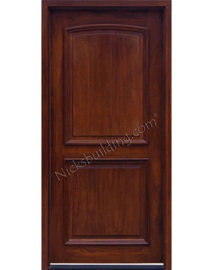 2 panel doors exterior mahogany