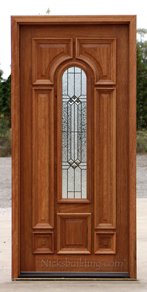 Exterior single mahogany doors for Single front doors with glass