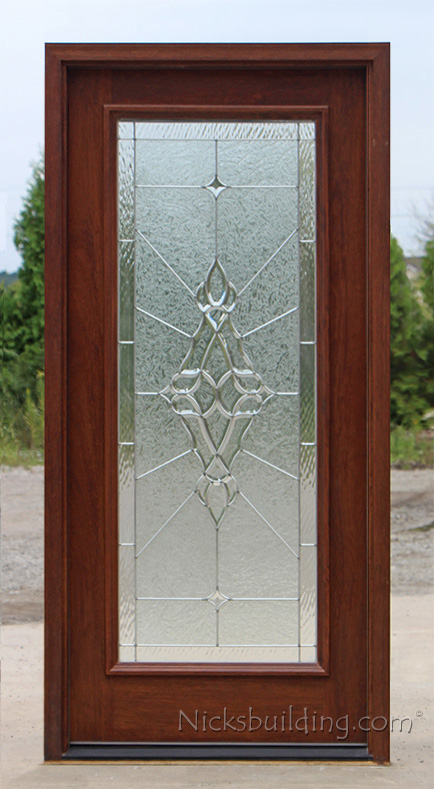 Full Lite Exterior Door With Clear Bevel Glass Foundation