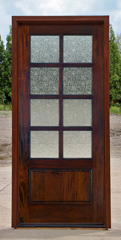 Exterior single mahogany doors for 8 lite exterior door