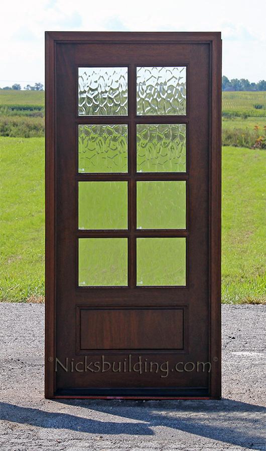 Exterior single mahogany doors for 8 lite exterior door