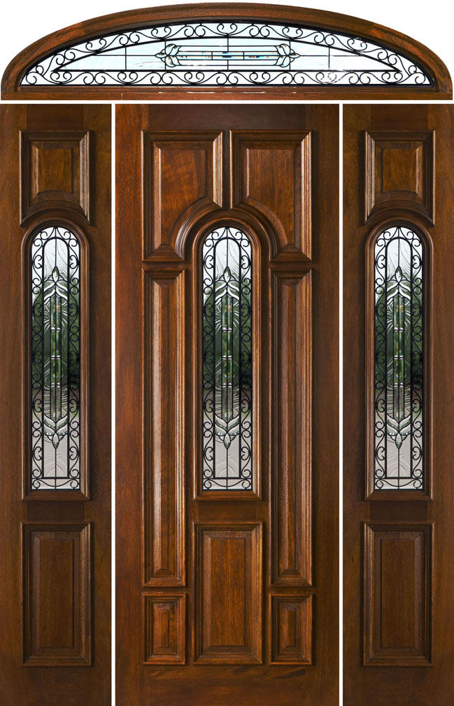 Entry doors with elliptical transoms for Front door with transom above