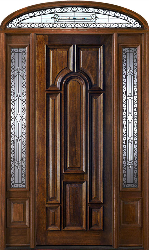 Entry Doors With Elliptical Transoms