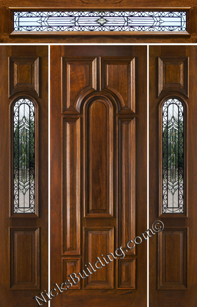 Rectangular Transom Doors Solid Mahogany Doors With Rectangular Transoms